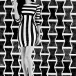 Royalty-Free Stock Photo: Stripes in black and white