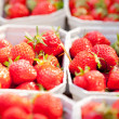 Fresh delicious strawberries macro — Stock Photo