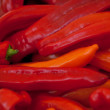 Fresh healthy red yellow geen paprika pepper macro closeup — Stock Photo #28124377
