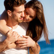 Stock Photo: Young happy couple in summer holiday vacation summertime