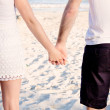 Young happy couple in summer holiday vacation summertime — Stock Photo