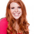 Young smiling redhead woman portrait isolated expression — Stock Photo #29685005