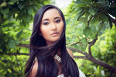 Attractive young asian woman beauty portrait — Stock Photo