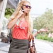 Stock Photo: Womtalking on phone