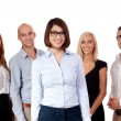 Stock Photo: Young successful business team smiling portrait isolated