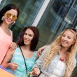 Two attractive young girls women on shopping tour — Stock Photo #31063601