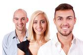 Business team diversity happy isolated — Stock Photo