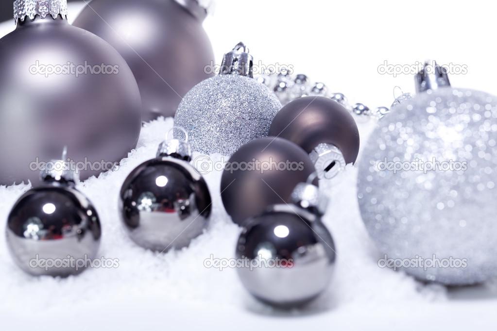 Kerstvakantie decoratie kerstballen glitter zilver for Decoratie zilver