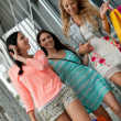 Attractive young girls women on shopping tour — Stock Photo #31659137