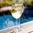 Hugo prosecco elderflower sodice summer drink — Stock Photo #31663103