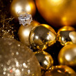 Festive glitter christmas decoration bauble seasonal — 图库照片
