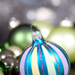 Festive glitter christmas decoration bauble seasonal — Stock Photo