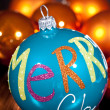 Festive glitter christmas decoration bauble seasonal — Stok fotoğraf