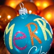 Festive glitter christmas decoration bauble seasonal — Stockfoto