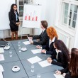 Business team on table in office conference — Foto de Stock
