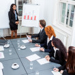 Business team on table in office conference — Stock fotografie