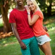 Young couple in love summertime fun happiness romance — Stock Photo #34285955