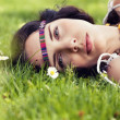 Stock Photo: Beautiful dreamy womin summer