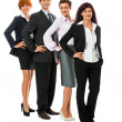 Business team diversity happy isolated — Stock Photo
