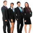 Business team diversity happy isolated — Stockfoto