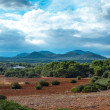 Beautiful landscape mountain view mediterranean spain — Stock Photo