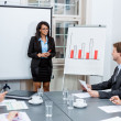 Business team in office meeting presentation conference — Foto Stock