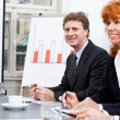 Business team in office meeting presentation conference — Stock Photo #35609555