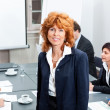 Business team in office meeting presentation conference — Stock Photo