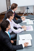 Business team in office meeting presentation conference — Stockfoto
