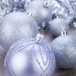Festive glitter christmas decoration — Stock Photo