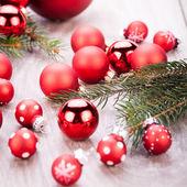 Festive glitter christmas decoration — Stock Photo