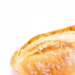Fresh italian chiabatta bread isolated on white — Stock Photo #36607685