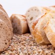 Fresh tasty mixed bread slice bakery loaf — Stock Photo