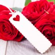 Valentines gift of beautiful red roses — ストック写真