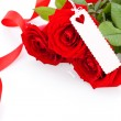 Valentines gift of beautiful red roses — Stockfoto