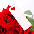 Valentines gift of beautiful red roses — Stock Photo #37446703