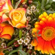 Stock Photo: Vivid orange gerberdaisy in bouquet