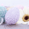 Beautiful easter egg decoration colorfull eggs seasonal pastel — Stock Photo