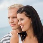 Постер, плакат: Loving couple enjoy a quiet tender moment