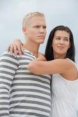 Loving couple enjoy a quiet tender moment — Stock Photo