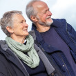 Happy senior couple elderly people together outdoor — Stock Photo #37989637