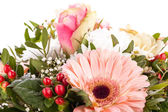 Bouquet of fresh pink and white flowers — Stock Photo