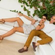 Elegant trendy young couple — Foto de Stock