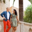 Young attractive couple in summer fashion — Stok Fotoğraf #37990271