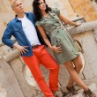 Young attractive couple in summer fashion — Stockfoto #37990281