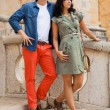 Young attractive couple in summer fashion — Stok Fotoğraf #37990299