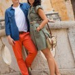 Young attractive couple in summer fashion — Stok Fotoğraf #37990313
