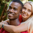 Young couple in love summertime fun happiness romance — Stock Photo #37992249
