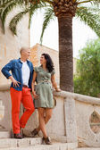 Young attractive couple in summer fashion — Stockfoto