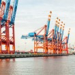 Stock Photo: Port terminal for loading and offloading ships